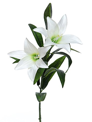 - FloristryWarehouse Artificial Easter Lily Spray White 31.5 Inches