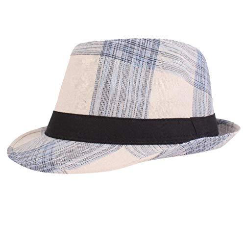 Kelly Bro Unisex Fishing Hat,Lightweight Foldable Retro Plaid Wide Brim Bucket Hat Outdoor Visor Cap Blue ()