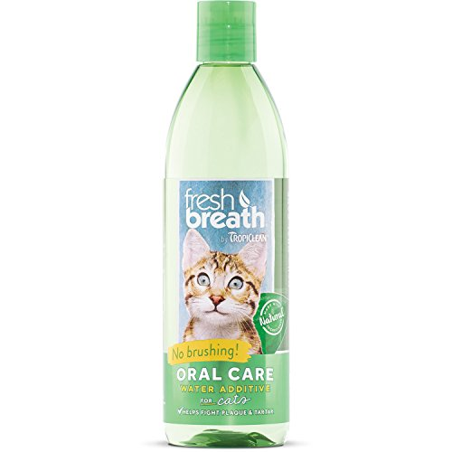 Tropiclean Fresh Breath Plaque Remover Cat Water Additive 16oz from TropiClean