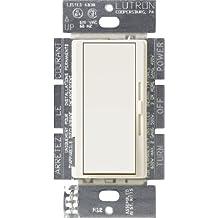 Lutron Electronics Co. DVSCFSQ-F-BI Diva Satin Colors Fan Control, Biscuit