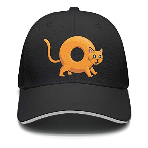 Doggie Bagels - Donut Bagel Cat Hip Hop Cotton Adjustable Mesh Caps Outdoor Hats Unisex