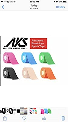 2 Pack-Advance Kinetic Sports,Sweat Proof Kinesiology Sports Tape, Long Lasting Athletic Tape used to give support to joints.