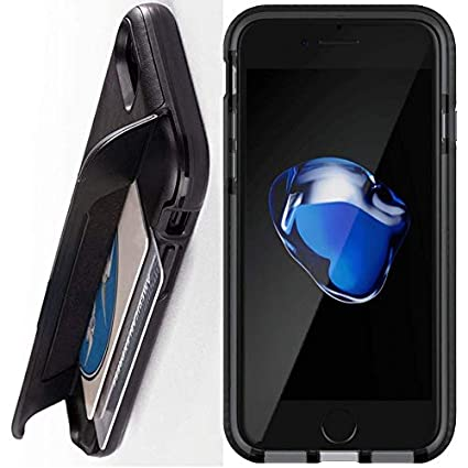 best loved bd6b7 7e616 Tech21 Evo Go Case for Apple iPhone 7/8 with Leather Trim & Concealed Card  Storage - Black