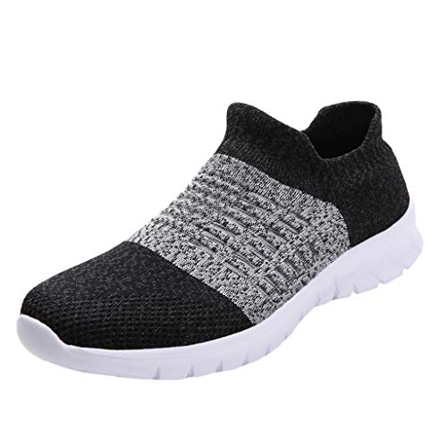 Women's Running Shoes Fashion Breathable Sneakers Mesh Soft Sole Casual Athletic Lightweight,Londony Work Sneakers Gray