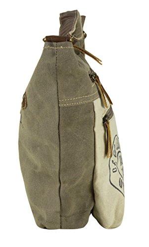 Sunsa Damen große Umhängetasche Schultertasche Crossbody Tasche Canvastasche in retro Style Vintagetasche 49cRDDt1w