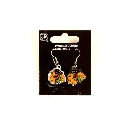 - NHL Chicago Blackhawks Dangler Earrings