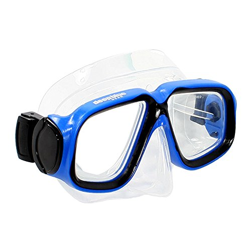 Diving Snorkeling Mask (Maui Jr.) with Optical Corrective Lenses, Blue, 1.5 Right & Left ()