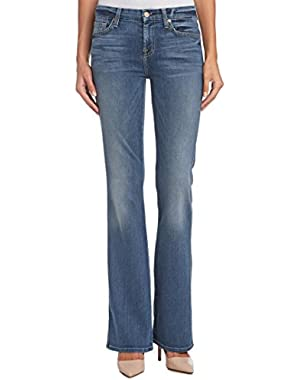 Seven For All Mankind Womens 7 For All Mankind Karah Foster Light Sky Bootcut, 24, Blue