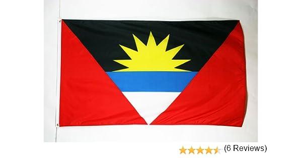 AZ FLAG Bandera de Antigua Y Barbuda 150x90cm - Bandera ANTIGUANA 90 x 150 cm: Amazon.es: Hogar