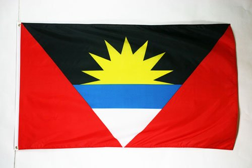 AZ FLAG Antigua and Barbuda Flag 3' x 5' - Antiguan Barbudan Flags 90 x 150 cm - Banner 3x5 ()