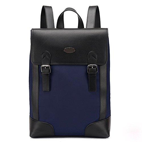 Mefly Koreanische Doppel Schulter Paket Koreanische Männer Und Frauen Rucksack Tasche Schule Wind Schultasche blue zeOY1G1