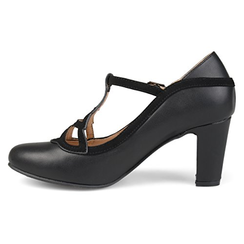 Collezione Journee Womens Round Toe Vintage Comfort-suola Bicolore Mary Jane Pumps Nero