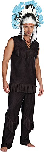 Dreamgirl Men's Chief Wansum Tail Costume, Black, X-Large