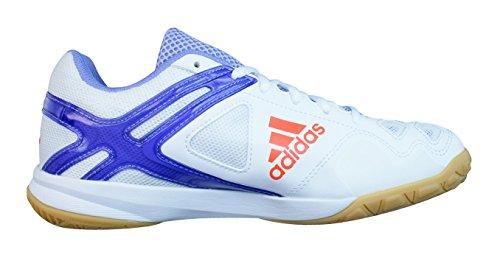 adidas Feather Team Zapatillas de bádminton para mujer - Blanco blanco