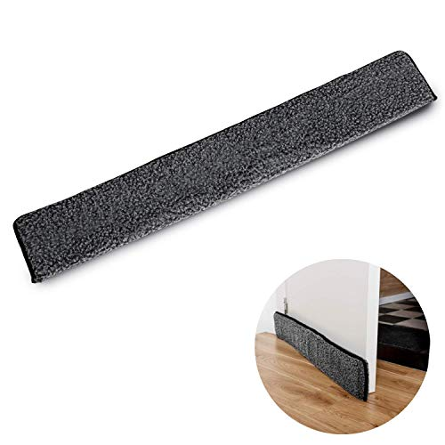 TIURE Door Draft Stopper Keep Draught Out with This Weather Strip That Attaches to Your Door Helps to Keep Out The Cold Fits on Standard Sized 36 Inch Door (Door Draft Blocker In Coffee Draft Stopper)
