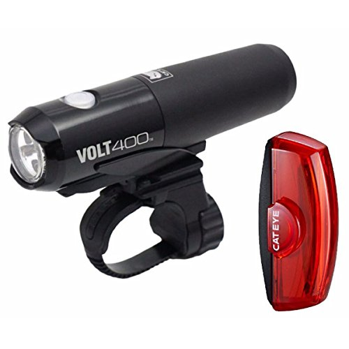 CAT EYE - Volt 400 Rechargeable Headlight and Rapid X2 Rear Bike Light