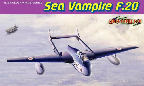 Cyber Hobby Sea Vampire F.20 Building Kit, 1/72-Scale