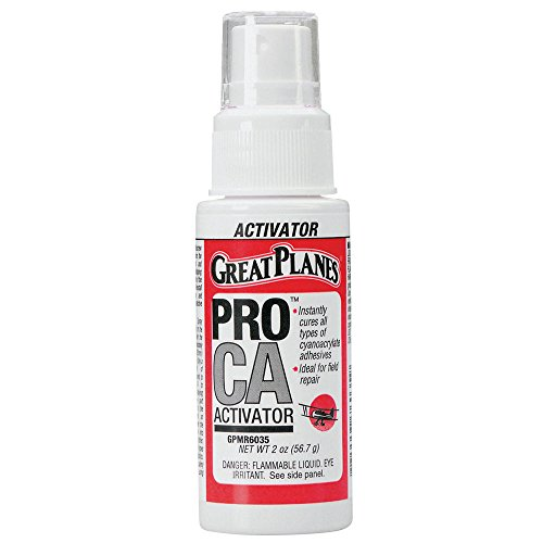 Great Planes Pro CA Foam Safe Activator (Accelerator) Pump Spray 2 oz