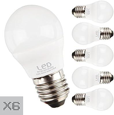 Sunmatic Bombilla LED MiniGlobe 6W=42 W | 470 Lúmenes | Rosca ...