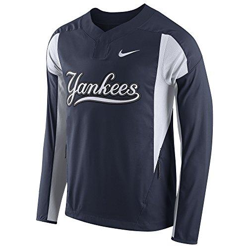 NIKE Men's Yankees Long-Sleeve Lightweight Woven Jacket Navy Size (Woven Long Sleeves Jacket)