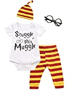 iCrazy 3Pcs/Set Baby Boy Girl Infant Snuggle This Muggle Rompers