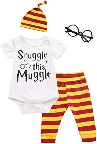 Conjunto de 3 piezas para bebés, niños y niñas, frase Snuggle this Muggle