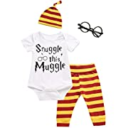 3Pcs Outfit Baby Boys Girls Mommy Little Muggle Pant Clothing Set (3-6 Months)