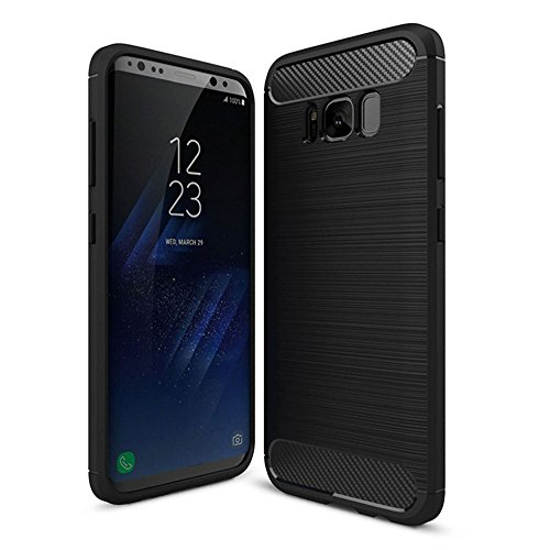 Samsung Galaxy S8 case, Galaxy S8 Case, Galaxy S8 Screen Protector, Samsung Galaxy S8 Phone Case, Samsung Galaxy S8 Silica gel Case, Slim Fit and Heavy Duty, for Women, Men, Boys, Girls (Black) by Taken