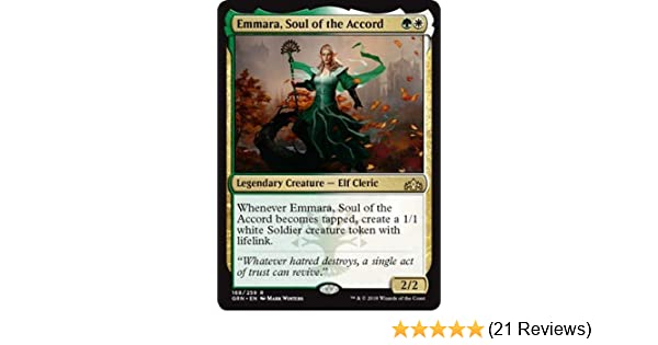 Soul of the Accord MTG Foil Promo Rare Legendary Creature Elf Cleric Emmara