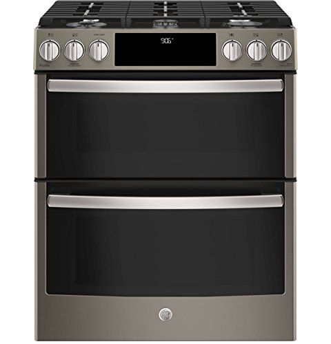 GE Profile PGS960EELES 30 Inch Slide-in Gas Range with Sealed Burner Cooktop, 6.7 cu. ft. Primary Oven Capacity in Slate ()