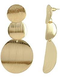 Golden Dangle Earrings Drop Hoops Studs Cuffs Ear Wrap Pin Vine Long Dangling Geometric Charms Jewelry