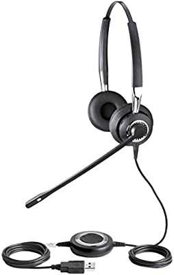 Amazon.com: Jabra BIZ 2400 USB UC Duo Corded Headset for Softphone