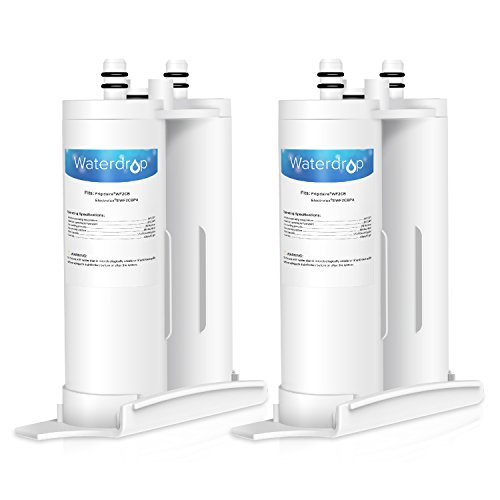 Waterdrop Refrigerator Water Filter, Compatible with WF2CB, EWF2CBPA, FC100, 9916, 469916 (Pack of 2)
