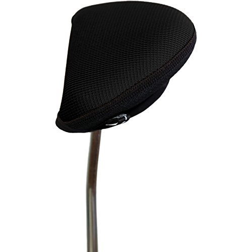- Stealth Golf Club Headcover for Oversized Mallet / 2 Ball Putter - Black