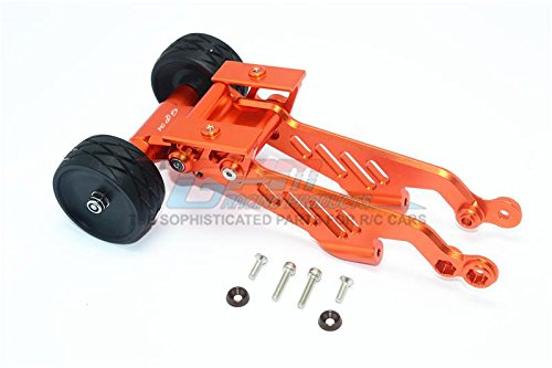GPM Arrma 1/8 OUTCAST 6S BLX Stunt Truck Upgrade Parts Aluminum Rear Wheelie With Wing Mount - 1 Set Orange