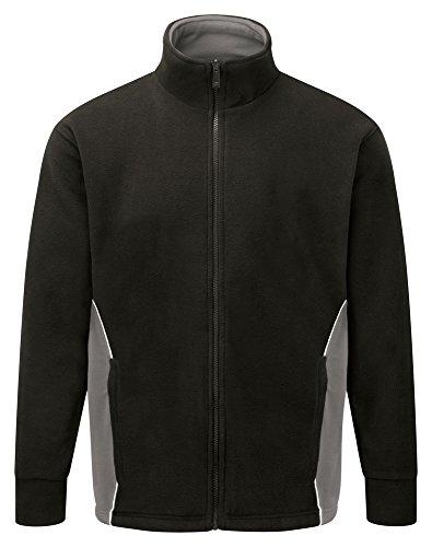 Workwear Pile nbsp;bicolore Contrasto In Colore Black Ww311 Giacca World Cerniera graphite prqnFZ8pw