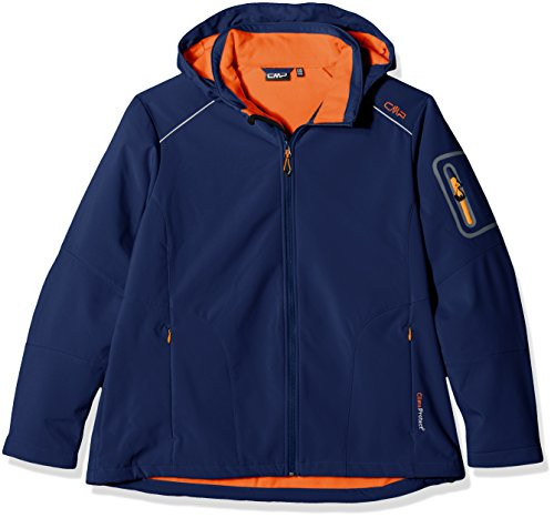 CMP - Chaqueta con capucha para mujer Nautico/Aranciata
