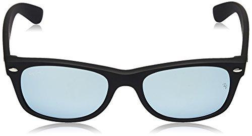 hombre Wayfarer Ray de Black Gafas para New Rubber Ban sol qppA0Ev