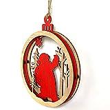 FANOUD Halloween Wooden Snowman Deer Letter Old Man Xmas Wedding Tree Hanging Ornament Decor 1Pcs