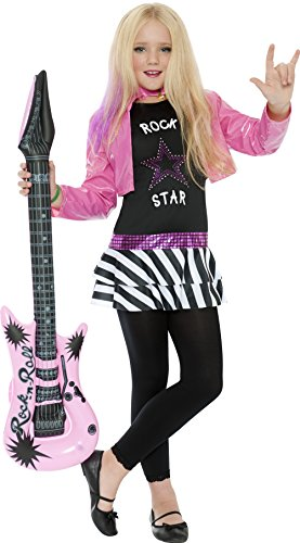 Smiffy's Rockstar Glam Costume, Black, (Rock Star Girl Costume)
