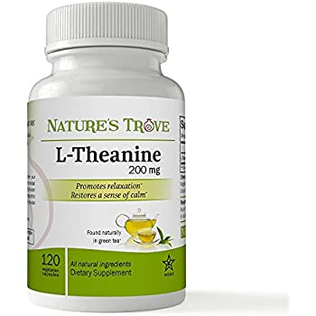 L-Theanine 200mg by Nature's Trove - 120 Vegetarian Capsules