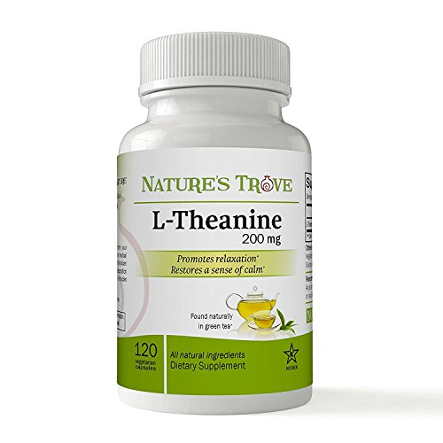 (L-Theanine 200mg by Nature's Trove - 120 Vegetarian Capsules)