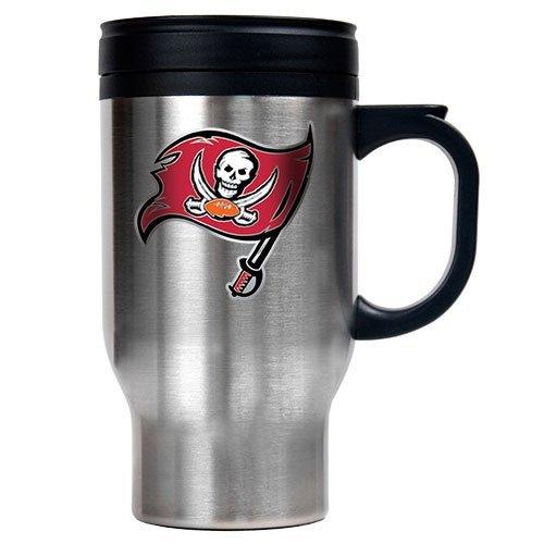 NFL Tampa Bay Buccaneers 16-Ounce Stainless Steel Travel Mug - Helmet Logo
