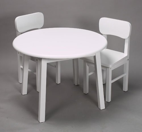 Gift Mark Round White Table and Chair Set