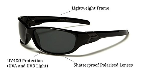 de deportes adultos polarizadas Black esquí Gafas X pesca talla o estuche protección como sol para incluye Deluxe snowboard ciclismo depostivas Loop hacer correr de UV400 única para YxtxZ