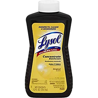 LYSOL Concentrate Disinfectant, Original Scent 12 oz (Pack of 4)