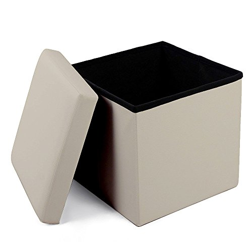 Foot Stools and Ottomans Small Leather Folding Organizer Storage Ottoman Bench Footrest Stool Coffee Table Cube, Camping Fishing Stool, Quick and Easy Assembly, Perfect for Child. 12