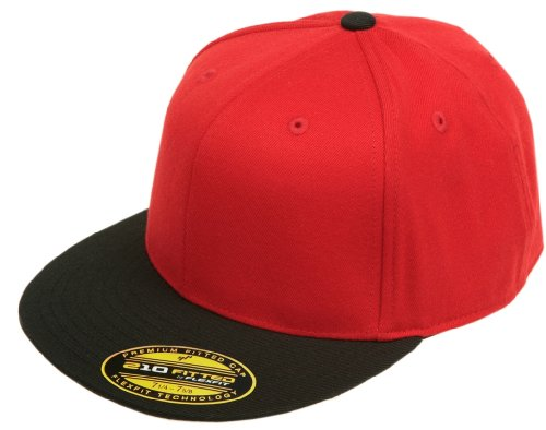 Flexfit Original Blank Flatbill Premium Fitted 210 Hat Cap Flex Fit Flat Bill Two Tone Small/Medium - - Cap Fitted Custom Hat