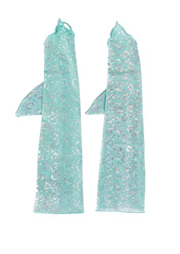 Mermaid Gloves by Shimmertail - Shimmertail Collection - Tahiti Island Dream - Large - 11 Year Old - (Tahiti Collection)