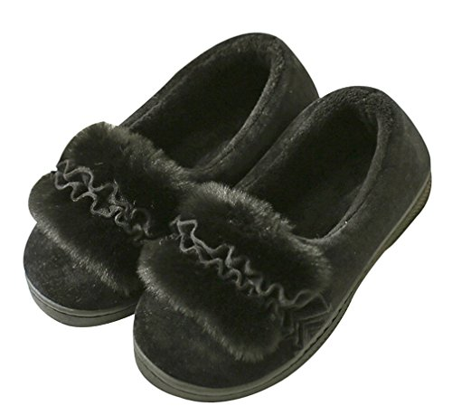 Pantofole Da Donna Fiore Cattior Pantofole Calde Pantofole Interne Da Esterno Nero